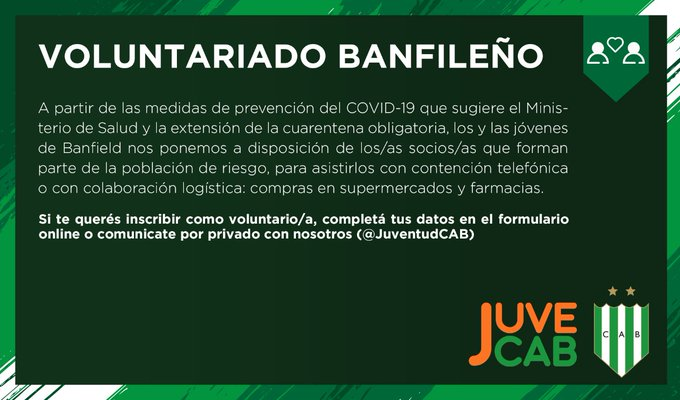 voluntariado-banfield-coronavirus